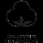 100% certified organic cotton